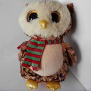 "TY Beanie Boos WISE the Owl Glitter Eyes 9"""